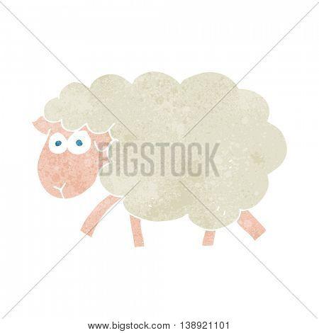 freehand retro cartoon sheep