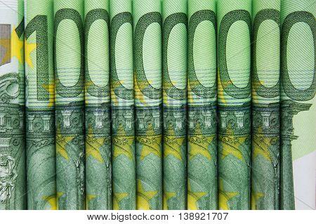 Stacked One Hundred Euro Bills , European Money