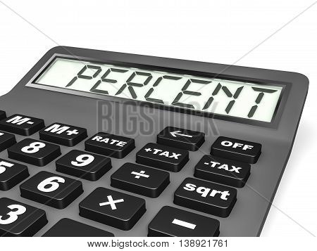 Calculator With Percent On Display.
