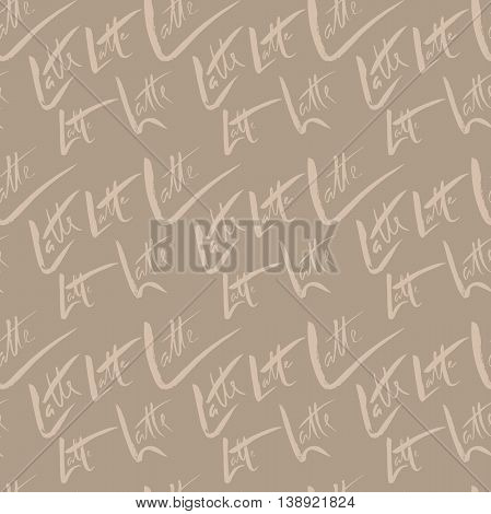 Vector illustration of seamless coffee pattern. Seamless latte pattern
