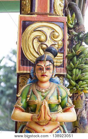 Hindu Temple Sri Muthumariamman Thevasthanam At Matale, Sri Lanka