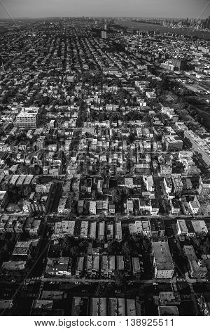 The Grid. Aerial View of Jersey City, New Jersey
