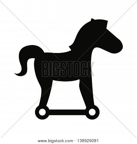 trojan silhouette virus icon vector isolated graphic