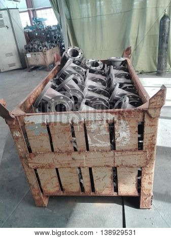 manufacture of steel valves in a large plant