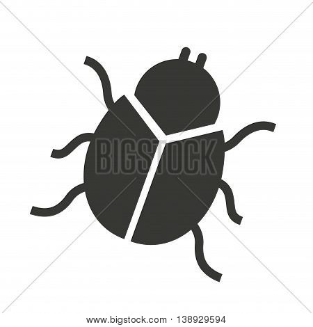 beetle silhouette black icon vector isolated graphic