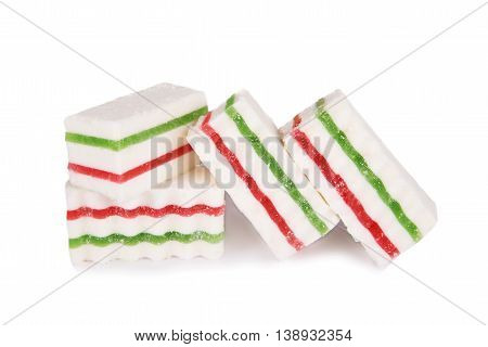 Marshmallows Jelly Isolated On A White Background