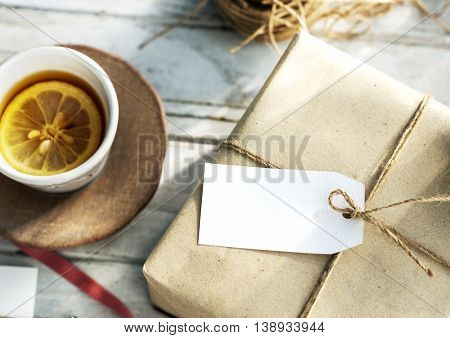 Mockup Copyspace Gift Present Box Twine Concept