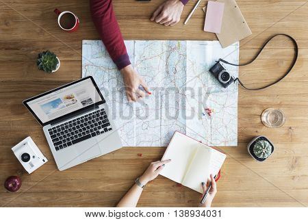 Map Location Direction Location Remote Relax Concept