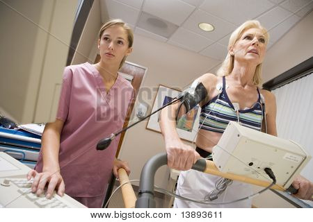 Nurse With Patient During Health Check