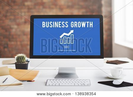 Business Growth Economics Graph Concept