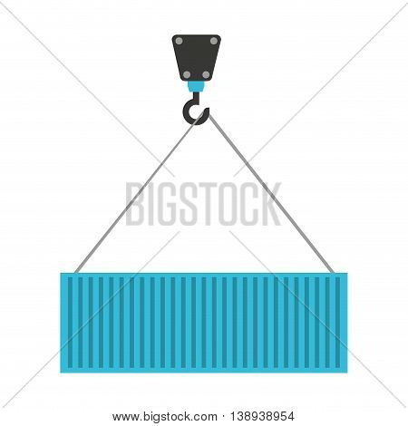 crane hook lifting icon vector isolated graphic