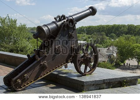 historical landmark of Ukraine. Combat artillery of the 18th century.