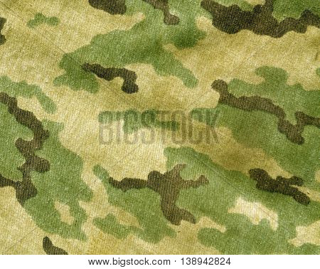 Abstract Old Camouflage Cloth Texture.