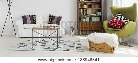 Modern Living Room In White Idea