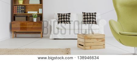 Light Living Room With Modern Details