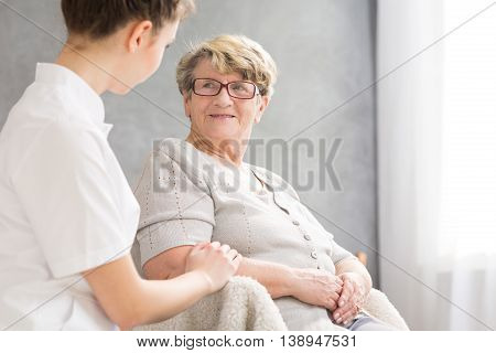 Senior Woman And Caregiver