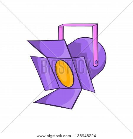 Spotlight icon in cartoon style isolated on white background. Light symbol