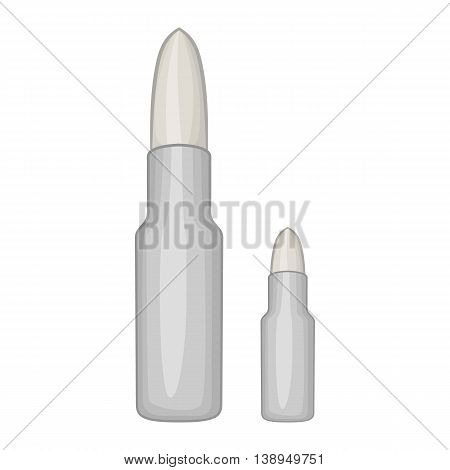 Bullets icon in cartoon style isolated on white background. Ammunition symbol