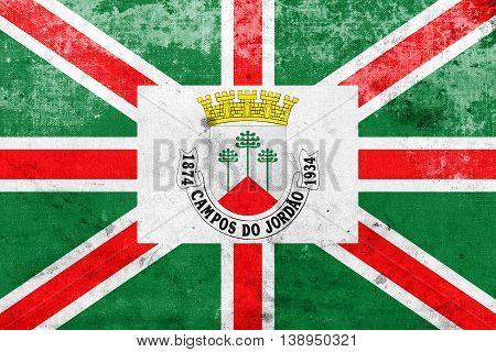 Flag Of Municipio De Campos Do Jordao, Sao Paulo, Brazil, With A