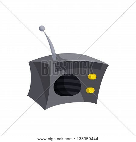 Radio icon in cartoon style isolated on white background. Music symbol