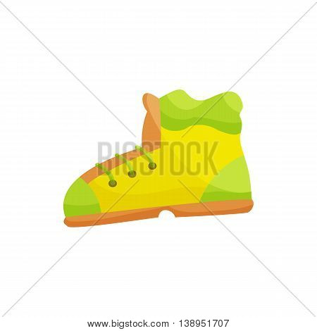 Shoes icon in cartoon style isolated on white background. Sport symbol