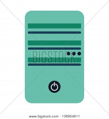 computer cpu server icon vector lated graphic