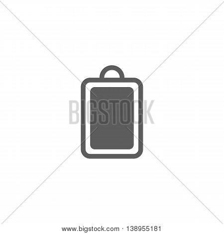 Vector illustration of cutting board icon on white background