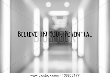 Motivation quote - believe in your potential