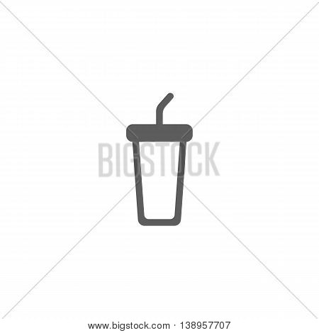 Vector illustration of cola icon on white background