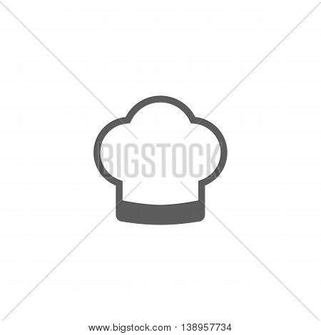 Vector illustration of cook hat icon on white background