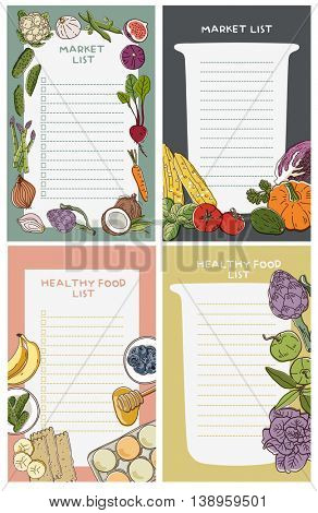 Cute fresh fruit vegetables notebook diary. Notepad stationery