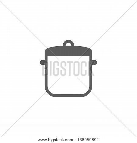 Vector illustration of saucepan icon on white background