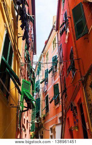 Narrow Alley In Vernazza, Cinque Terre, Italy