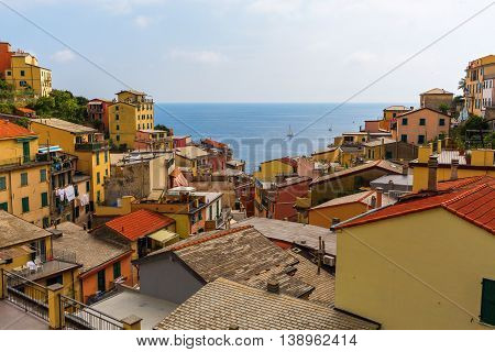 View Over The Roofs Of Riomaggiore, Cinque Terre, Italy