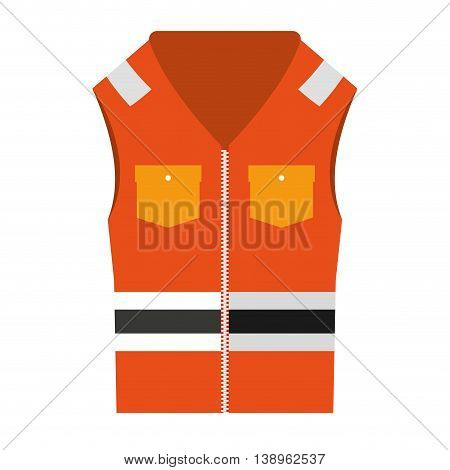 jacket uniform security icon graphic isolated vector
