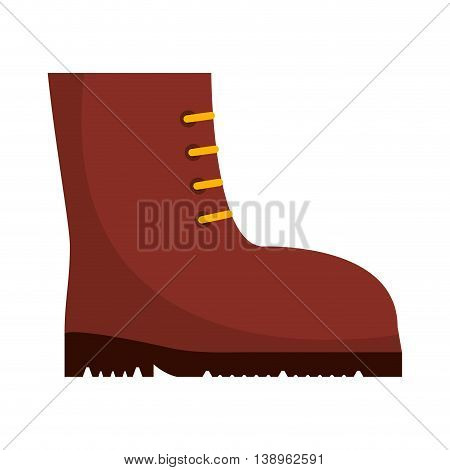 boots work security icon graphic isolated vector