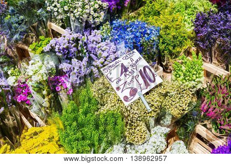 Flowers At A Flower Market