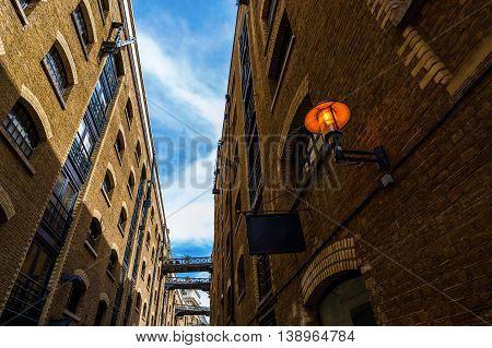 Old Alley In Southwark, London