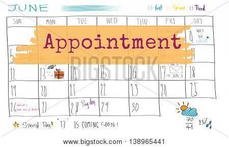 Appointment Agenda Calendar Meeting Reminder Concept