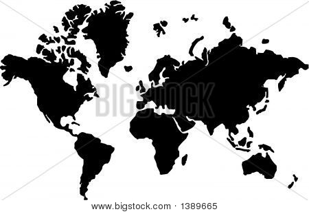 Vector Map Of The World