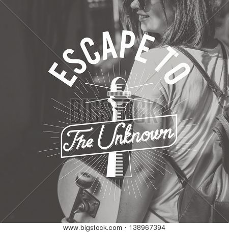 Escape To The Unknown Graphic Concept