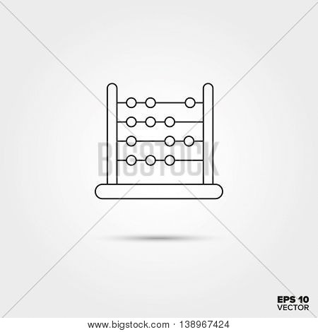 Abacus Toy Line Icon Vector