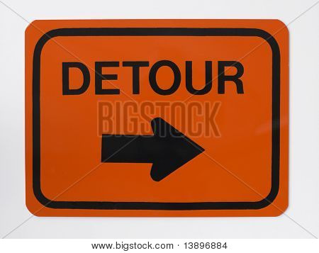 Detour Road Sign