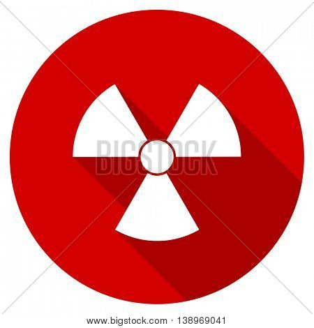 radiation vector icon, red modern flat design web element