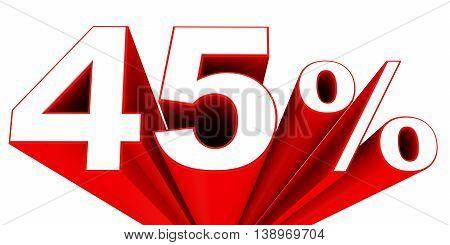 Discount 45 Percent Off Sale.