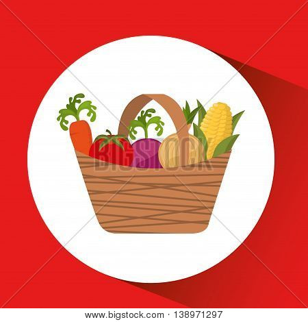 farm countryside vegetables isolated, vector illustration eps10