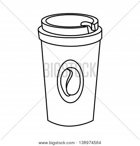 Coffee Drink in plastic cup isolated flat icon, vector illustration graphic.