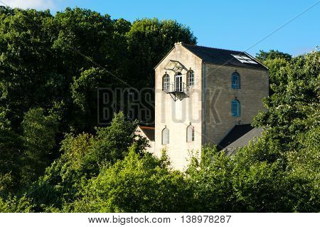 The Mill in Bathampton. Historic fabric mill on the outskirts of the UNESCO World Heritage City of Bath Somerset UK