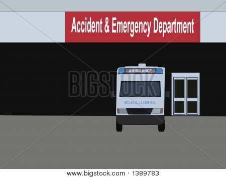 Ambulance Parked Outside Hospital