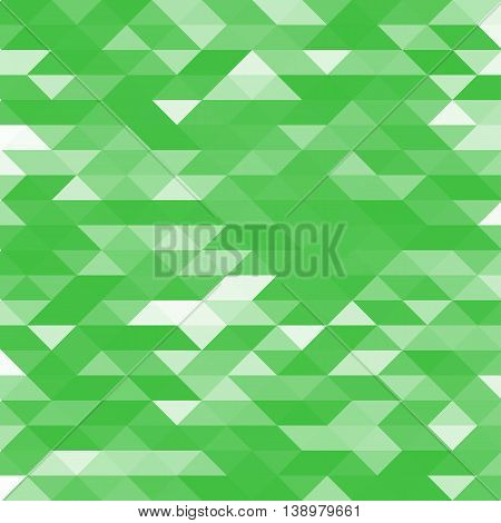 Isolated abstract green lowpoly designed vector background. Polygonal elements backdrop. Translucent overlays wallpaper. Decorative tile illustration.